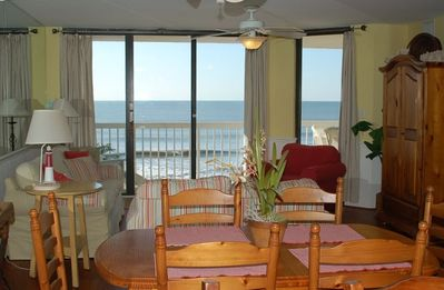 Main living room area-oceanfront balcony