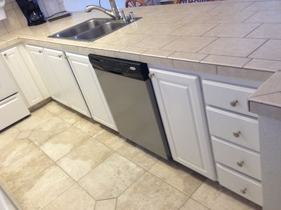 New Flooring - New Dishwasher