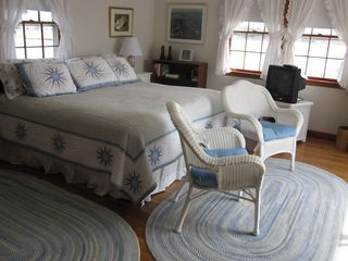 Pocasset house photo - Master Bedroom with 3 views of water. Opens to deck.