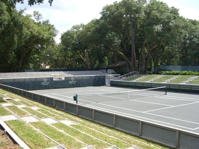 Center court at tennis center