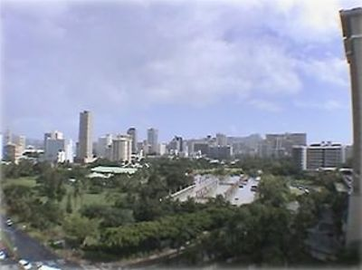 View from the Lanai overlooking Waikiki