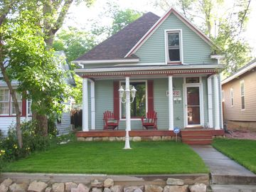 Manitou Springs house rental - Front yard, added hand rails to front steps spring of 2015