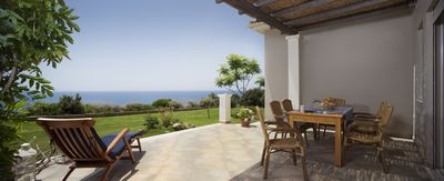 Ploes Villas - above sandy beach, unique Ionian Sea view, close to Anc. Olympia - Sea Villa