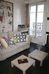4th Arrondissement Pompidou Le Marais apartment photo - Living Room Sofa