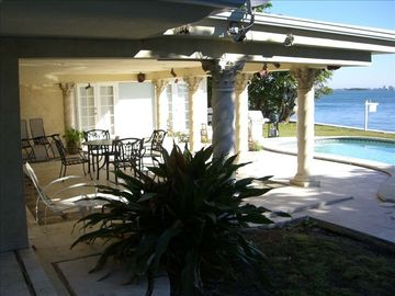 Over sized Covered Lanai - Great for Intimate Parties, Weddings or Just Chilling