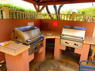Kihei condo photo - Barbeques at upper & lower pools for your use. Free WiFi at lower pool.