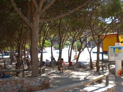 Cala de pino, mar menor beach (5 min walk)