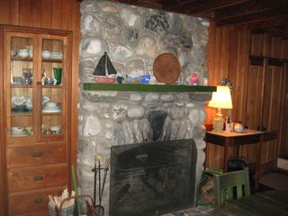 Bailey Island house photo - Fieldstone Fireplace