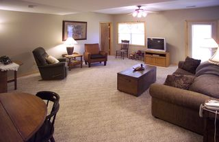 Lower level - second living area is great for games and kids. - Branson cabin vacation rental photo