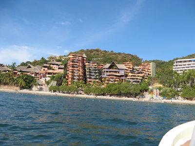 Club Intrawest from the water... we are located on the beach level