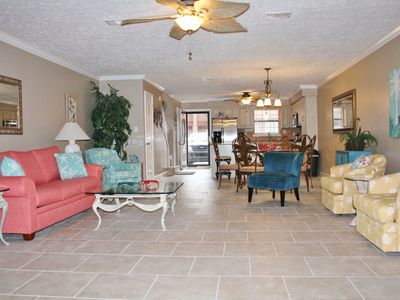 All New Living Room Furniture and Tile Floors.