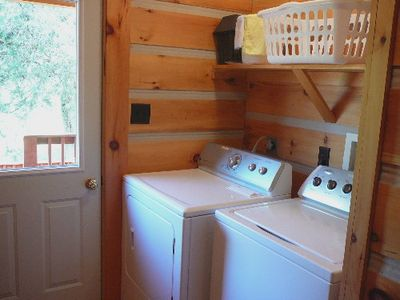 Luray cabin rental - Laundry Room.
