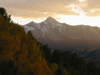 Telluride chateau / country house photo - Mighty Wilson Peak in Fall - Telluride's famous fourteener - from the main deck.