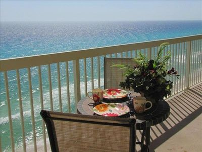 Enjoy your breakfast while watching the dolphins play.