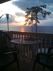 Milolii house photo - Sunset from Lanai