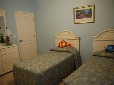 Champions Gate villa rental - Twin Bedroom 3 - showing alternative bedding supplied