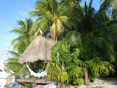 The relaxing and oh so very secluded tiki hut!
