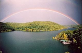 Beaver Lake cabin photo - Rainbow Over Beaver Lake From Your Private Deck. (No Photoshop Tricks)