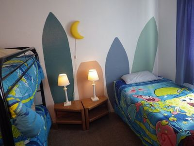 San Clemente apartment rental - Bedroom 3 with bunk bed and separate twin bed (sleeps 3)