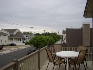 Stone Harbor townhome photo - Enjoy the summer breeze on the deck.