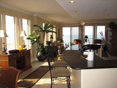 Panama City condo rental - Windows all the way around the condo with ocean view.
