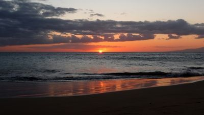 Kamaole Beach II - listen for the sound of the conch-blowers as the sun sets.