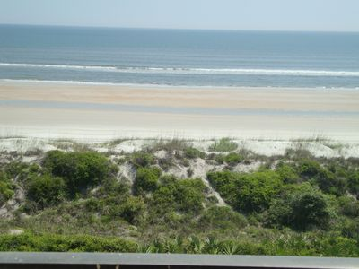 Crescent Beach & Atlantic Ocean View from 305 oceanfront balcony