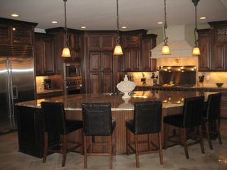Cherry Grove Beach estate photo - Chef's Dream Eat-In Gourmet Kitchen with Sub-Zero and Viking Gas Appliances