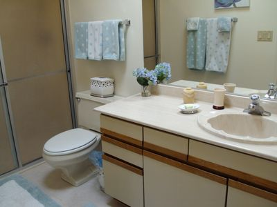 Comfortable Master Bath With Walk In Shower