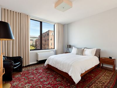 Brooklyn condo rental - Beautiful views from the bedroom, blackout curtains to sleep in