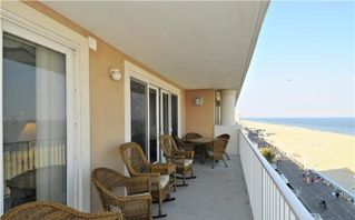 South Beach Ocean City condo photo - Large Oceanfront balcony
