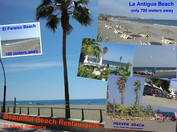 Beautiful beaches with nice restaurants