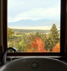 Angel Fire house photo - Another Autumn View While Soaking in Whirlpool
