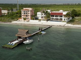 Cancun house photo - Aerial view of the dock and house
