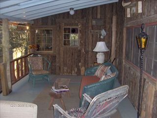 Highlands cabin photo - Covered Porch - The Ultimate in Relaxation!
