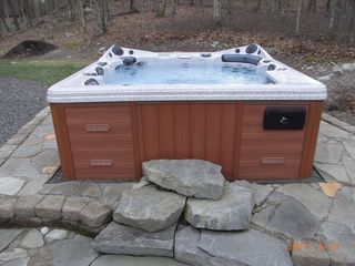 Bushkill chalet photo - Hot tub with built in stereo system and Mp3 input!