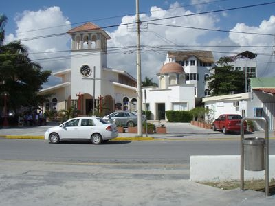 Our church in the square.
