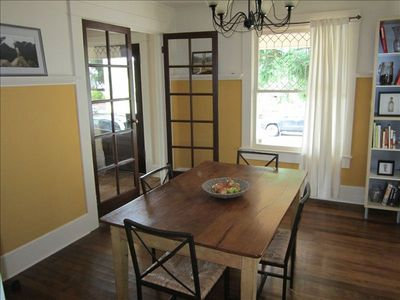 Dining room- this table has been replaced with one that seats 8