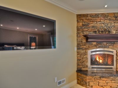 "46"" Samsung LCD TV's and Fireplaces in all Suites"