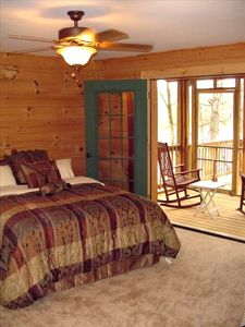 Master bedroom, french doors, screened in porch overlooks the water - ahh!