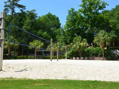The beach volleyball court