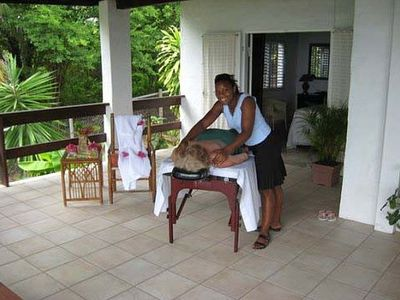 What a way to relax! Antonia is a great masseuse.