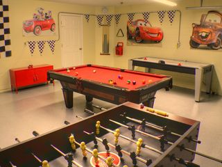Ashley Manor villa photo - Cars game room in the Garage - Full size Pool Table - Air Hockey and Foostable.