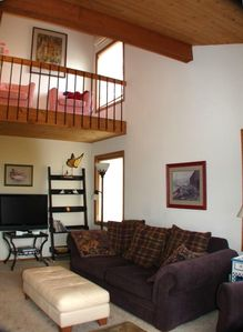 High Ceilings & Loft make the living area spacious