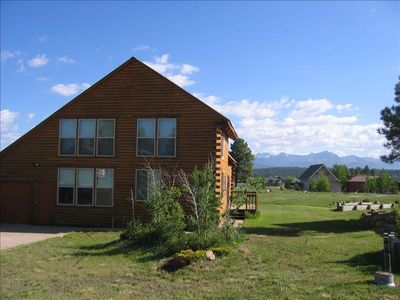 Cabin as seen from street - Wolf Creek Ski Pagosa Springs CO Vacation Rental