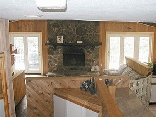 Mount Snow house photo - Living Room with huge fireplace, L. Ashley couches, TV/DVD, movies and games!