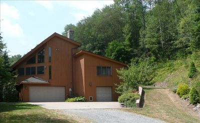 Coudersport house rental - Miller's Mountain Retreat from driveway.
