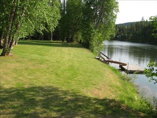 Bigfork cabin photo - View looking down River & Boat Dock