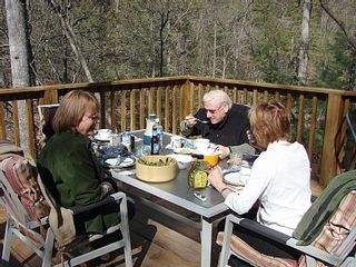 Hot Springs house photo - Brunch on the deck