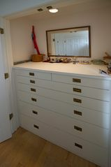 Tom Nevers house photo - Master bedroom closet area Four closets with drawers and hanging areas